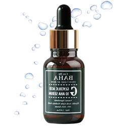 AHA 10% Facial Serum Glycolic Acid Face Peeling Acne Pore Pi