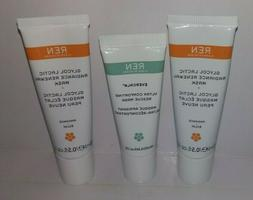 3 REN MASKS 1 Evercalm Ultra Comforting Rescue 2 Glycol Lact