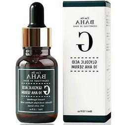 Cos De BAHA 10% Glycolic Acid AHA Facial Serum Chemical Peel
