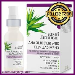 Glycolic Acid 10% AHA Chemical Peel Face Acne Pimples Scars