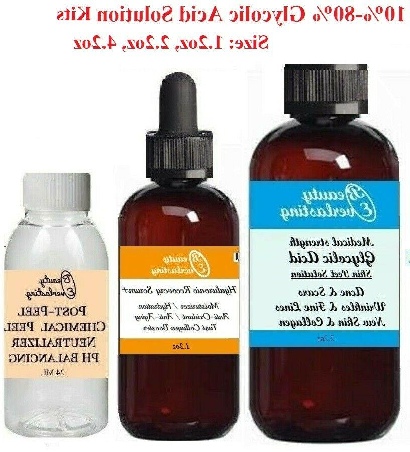 medical grade glycolic acid chemical peels 10
